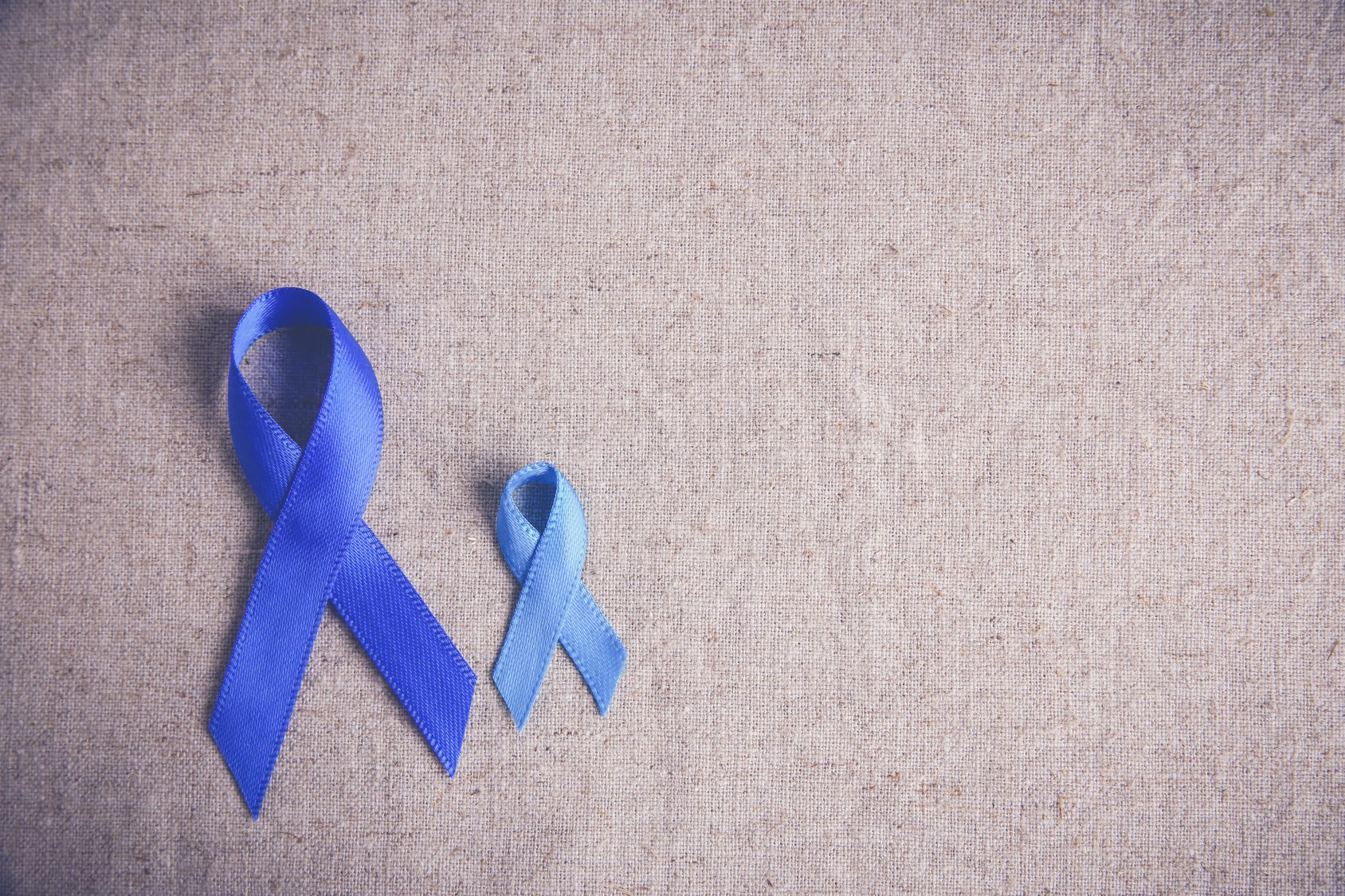 Blue Ribbons Toning Background Colon Cancer Colorectal Cancer Onco Zine