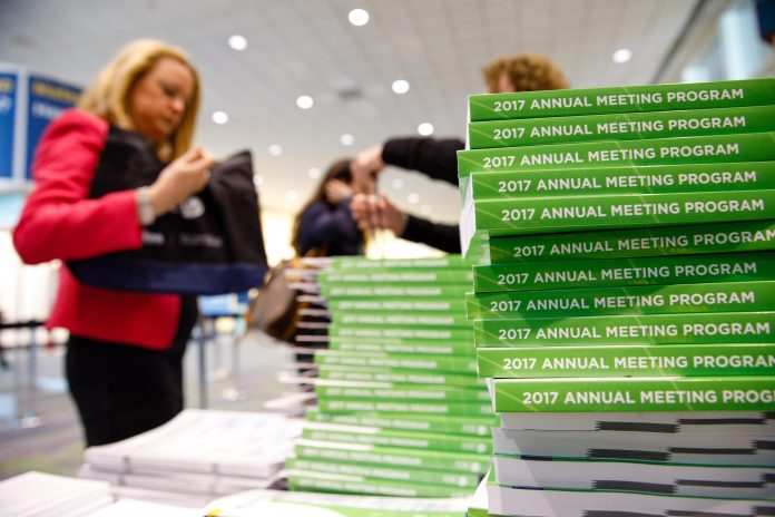 Attendees during American Society of Clinical Oncology (ASCO) Annual Meeting. Courtesy: ? ASCO/Scott Morgan