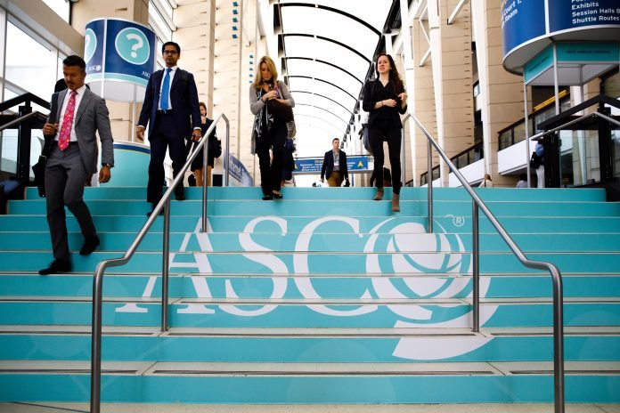 Attendees during the day at the American Society of Clinical Oncology (ASCO) Courtesy: ? ASCO/Scott Morgan.