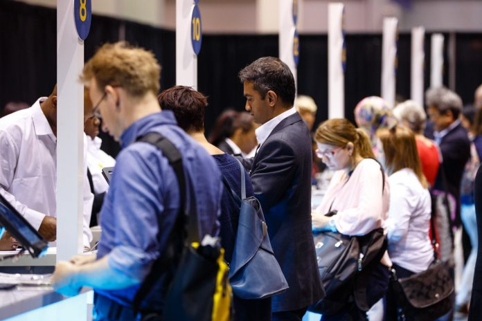 Attendees during the day at the American Society of Clinical Oncology (ASCO) Courtesy ? ASCO/Scott Morgan