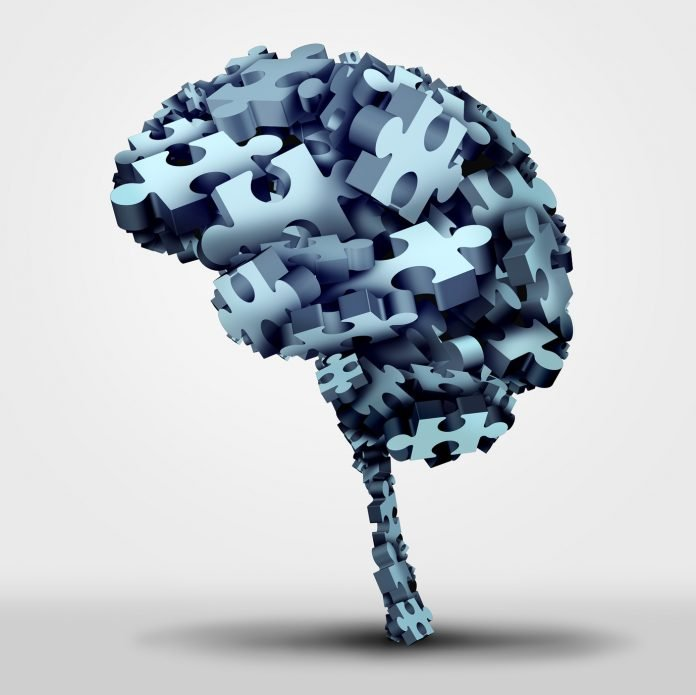 Brain puzzle concept