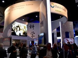 Featured Image: Daiichi Sankyo Booth at the annual meeting of the American Association for Cancer Research (AACR) 2018 Courtesy: © 2017 – 2018. Sunvalley Communication, LLC / Evan Wendt. Used with permission.