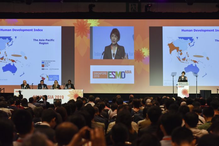 Elisabete Weiderpass, MD, MSc, Ph.D, Keynote lecture during the 5th ESMO Asia, being held November 22 - 24, 2019 in Singapore. Photo courtesy: ESMO