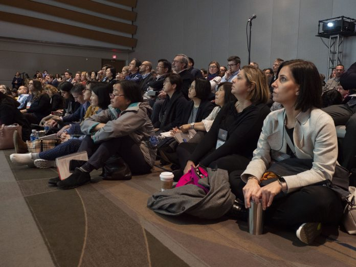 Audience during the San Antonio Breast Cancer Symposium (SABCS) being held at the Henry B. Gonzalez Convention Center in San Antonio, TX. Photo courtesy 2019 © Todd Buchanan.