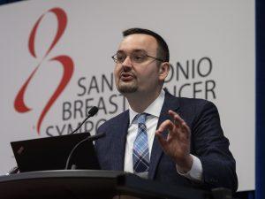 Milan Radovich, Ph.D, speaks during SABCS 2019 San Antonio Breast Cancer Symposium being held at the Henry B. Gonzalez Convention Center in San Antonio, TX. Photo courtesy © 2019 Todd Buchanan