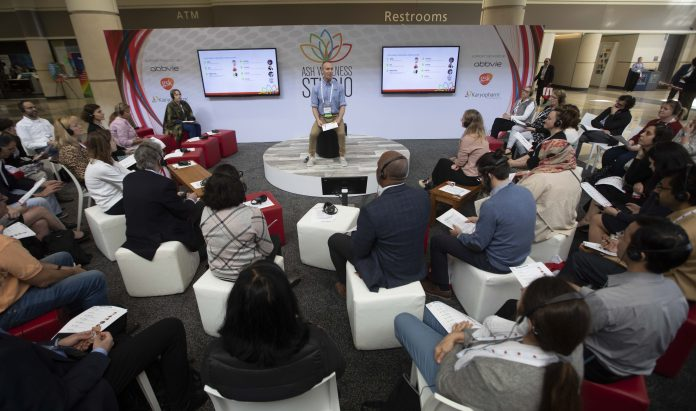 Attendees during ASH Wellness Studio at the American Society of Hematology 61th Annual Meeting at the Orange County Convention Center on Saturday December 7, 2019. Photo Courtesy 2019 © ASH/Rodney White