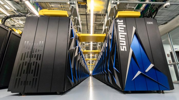 The Summit supercomputer, designed to solve complex tasks in the fields of energy, artificial intelligence, human health, and other research areas, covers the space of two basketball courts and requires 136 miles of cabling.